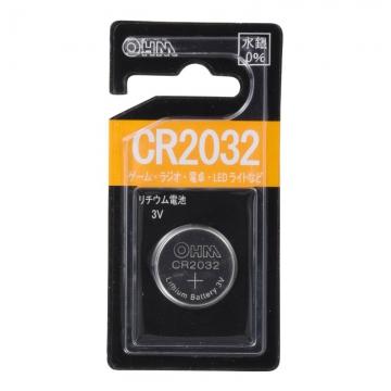 リチウムコイン電池 CR2032 [品番]07-9703