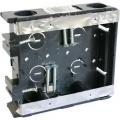 電設資材 浅型スライドボックス 2ヶ用 [品番]00-9128