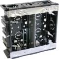 電設資材 台付スライドボックス 2ヶ用 [品番]00-9130