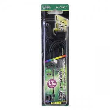 AC電源コード メガネ型 1.7m [品番]01-7507