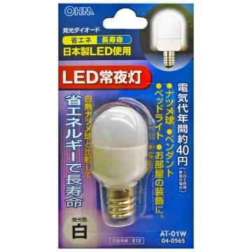 LEDナツメ球 常夜灯 白 [品番]04-0565