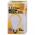 LED電球 60形相当 E26 電球色 密閉器具対応 [品番]06-3003