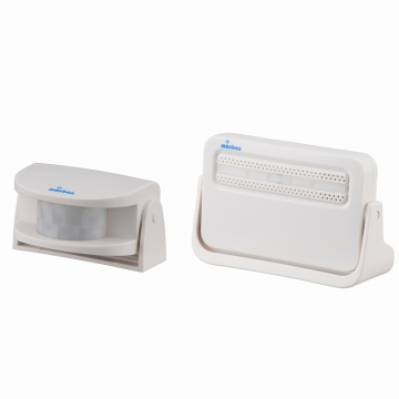 monban ワイヤレスチャイム 人感センサー送信機+電池式受信機 [品番]08-0516