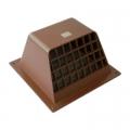 ウェザカバー格子付 17.5cm×17.5cm ブラウン [品番]00-6530