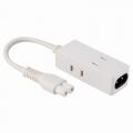 モバイルPCタップ 3個口 0.1m ホワイト [品番]00-1253