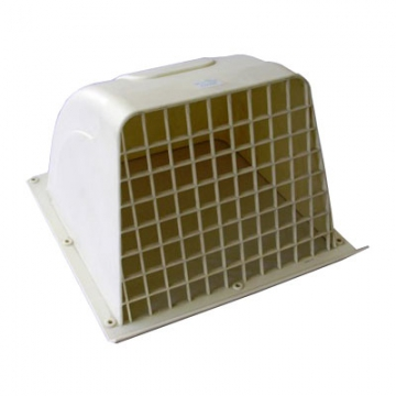 ウェザカバー格子付 20cm換気扇用 ホワイト [品番]00-6553