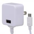 ACアダプター USB+MicroUSB 1A [品番]01-2189