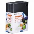 DVD&CDケース 1枚収納×5個パック [品番]01-3279