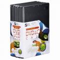 DVD&CDケース スリムタイプ 1枚収納×10個パック [品番]01-3280
