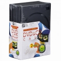 DVD&CDケース 2枚収納×5個パック [品番]01-3289