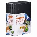 DVD&CDケース 6枚収納×5個パック [品番]01-3291