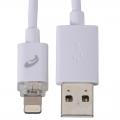 AudioComm ライトニングケーブル LED充電ランプ付 1m [品番]03-0361