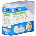 CD&DVDケース スリムタイプ 厚さ5mm 10個パック クリア [品番]01-3277