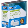 CD&DVDケース スリムタイプ 厚さ5mm 10個パック ミックスカラー [品番]01-3278