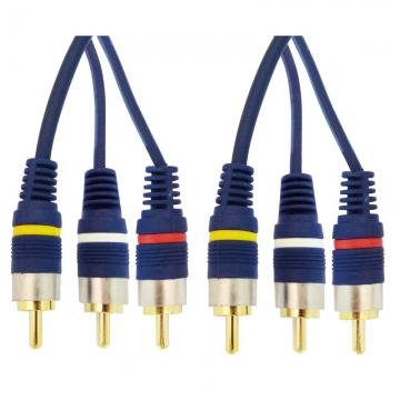 ビデオ接続コード ピンプラグ×3-ピンプラグ×3 1.5m [品番]01-5099