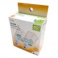 電球形蛍光灯 エコデンキュウ スパイラル形 E26 60形相当 電球色 2個入 [品番]06-0243