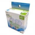 電球形蛍光灯 エコデンキュウ スパイラル形 E26 40形相当 昼光色 2個入 [品番]06-0252
