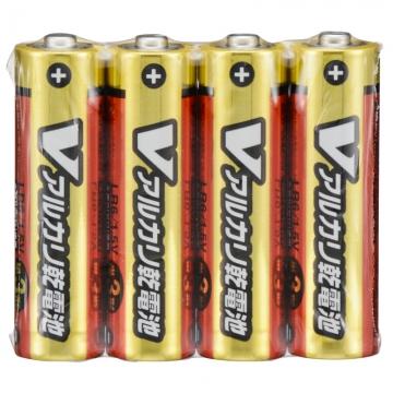 Vアルカリ乾電池 単3形 4本パック [品番]07-9943