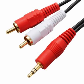 抵抗入 オーディオ接続コード ステレオミニプラグ-ピンプラグ×2 1.5m [品番]01-5106