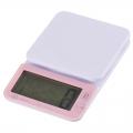 大画面 デジタルキッチンスケール 洗える計量皿 2kg計 ピンク [品番]08-0060