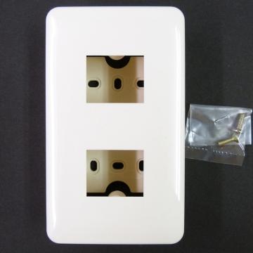 露出配線用 増設ボックス 2口 [品番]00-8277
