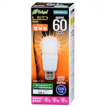 LED電球 T形 60形相当 E26 電球色 [品番]06-2941