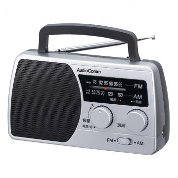 AudioComm AM/FM ポータブルラジオ [品番]07-6422