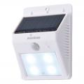 ソーラー発電式 LEDセンサーウォールライト ホワイト [品番]07-8208