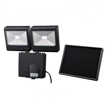 ソーラー式 LEDセンサーライト 2灯4W [品番]07-8287