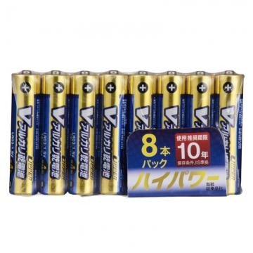 Vアルカリ乾電池 ハイパワータイプ 単4形 8本パック [品番]07-9967