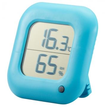 デジタル温湿度計 青 [品番]08-0064