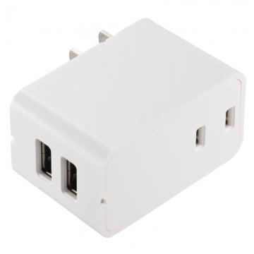 増設できるUSBチャージャー 2.4A ホワイト [品番]00-1455