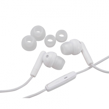 AudioComm スマートフォン専用ステレオイヤホン マイク付 ホワイト [品番]03-2710