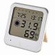 インフルエンザ熱中症注意機能付き 温湿度計 白 [品番]08-0025