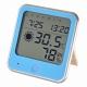 インフルエンザ熱中症注意機能付き 温湿度計 青 [品番]08-0026
