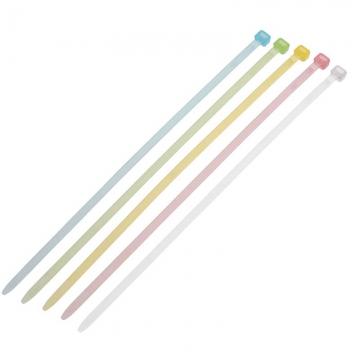 カラー結束バンド 耐薬品タイプ 4.4×200mm 10本セット [品番]09-1715