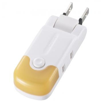光るマイクロタップ 2口 オレンジ [品番]00-2292