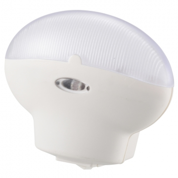 LEDナイトライト 明暗センサー ホワイト 白色LED [品番]07-8309