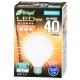 LED電球 ボール電球形 40形相当 E26 電球色 [品番]06-3376
