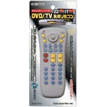 DVD/TV 汎用リモコン ORC-32DVD [品番]07-0753