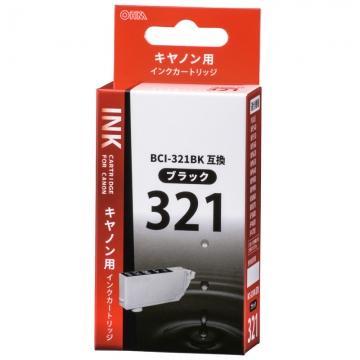 キヤノン互換 BCI-321BK 染料ブラック [品番]01-4146