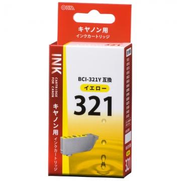 キヤノン互換 BCI-321Y 染料イエロー [品番]01-4149
