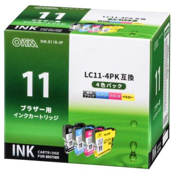 ブラザー互換 LC11-4PK 染料4色 [品番]01-4172