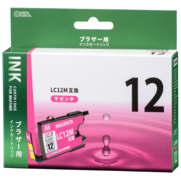 ブラザー LC12M互換 染料マゼンタ [品番]01-4179
