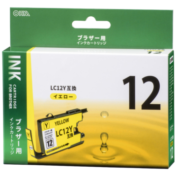 ブラザー互換 LC12Y 染料イエロー [品番]01-4180