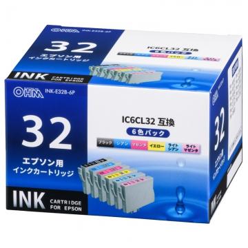 エプソン互換 IC6CL32 染料6色 [品番]01-4193