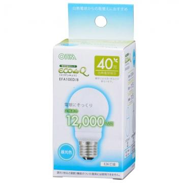 電球形蛍光灯 E26 40形相当 昼光色 エコデンキュウ [品番]06-0270