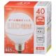 LED電球 ボール電球形 40形相当 E26 電球色 [品番]06-0291