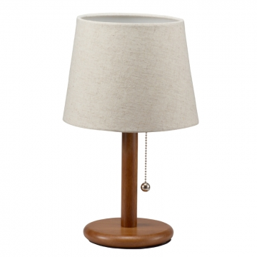 洋風テーブルスタンド 木製 ブラウン 電球別売 [品番]06-1397