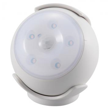 LEDセンサーライト 人感・明暗 ホワイト 黄色LED [品番]06-1621
